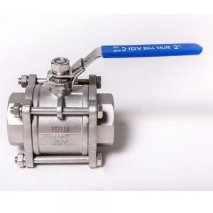 BSP Stainless Steel Ball Valve 3-piece